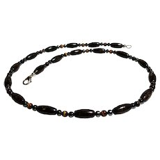 JFTS Men's Bronzite, Tiger's Eye & Hematite Necklace