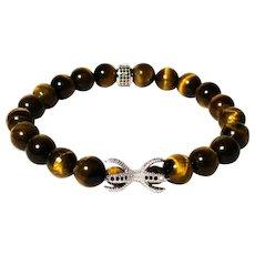 JFTS Men's Tiger's Eye Stretch Bracelet