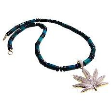 JFTS Men's Chrysocolla & Lapis Lazuli Necklace W/Pendant