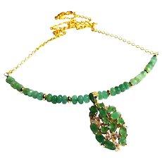 JFTS Zambian Emerald Necklace W/Zambian Emerald Pendant