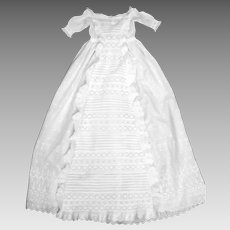 British Heirloom Christening Gown, Bountiful Waterfall, Ruffles, Broderie Anglaise VFC