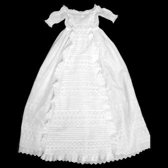 British Heirloom Christening Gown, Bountiful Waterfall, Ruffles, Broderie Anglaise VFC