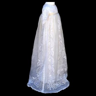 Ayrshire Christening Gown Original Heirloom of Museum Quality
