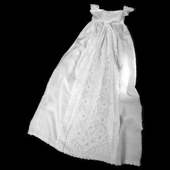 Magnificent Ayrshire Christening Gown, Abundant Botanical Motif