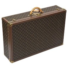 Iconic Vintage Louis Vuitton Canvas Monogram Alzer 80 Trunk Hard Case