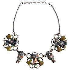 Vintage 1963 Hobe Egyptian Revival Necklace