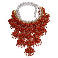 Vintage 1950's Cadoro Waterfall Statement Necklace