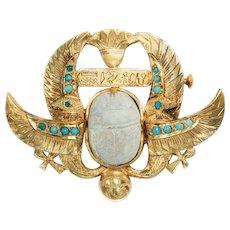 Art Deco Egyptian Revival Brooch Pin