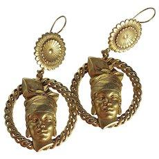Vintage Askew London Carmen Miranda Creole Drop Earrings