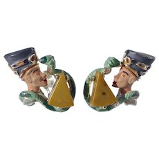 Vintage 1963Hobe Egyptian Revival Nefertiti Earrings