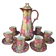 Nippon 14 piece Bright Floral Heavy Gold Chocolate Set