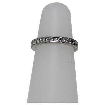 Stunning Princess Cut Diamond Eternity Band, Platinum