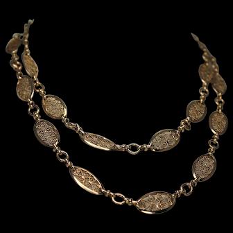 Gorgeous 30 inch Decorative Chain, 18Kt YG
