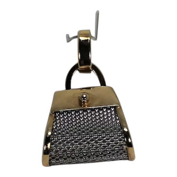 Mesh Purse Pendent, Plat and 18Kt YG