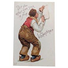 Frances Brundage Valentine Dutchman Postcard