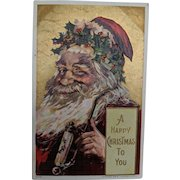 Santa Postcard Copyright 1908 by Julius Bien & Co. NY.