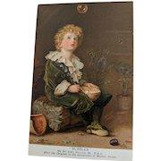 """""""BUBBLES"""" Pears Soap Antique Postcard"""