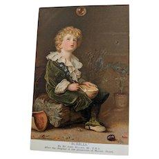 """""""BUBBLES"""" Pears Soap Vintage Postcard"""