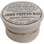 Antique English Porcelain Tooth Paste Pot with lid c.1880
