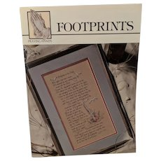 "Cross Stitch Book-Leaflet By Carol Emmer ""Footprints"""