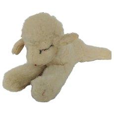 Vintage Children's Toy, Stieff Floppy Wool Lamb Plush