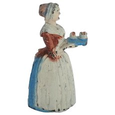 Vintage Cast Iron Pencil Sharpener Bakers Chocolate Girl