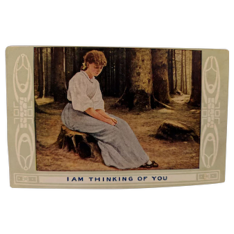 "Postcard titled "" I Am Thinking Of You """