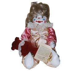 Vintage Twinkles the Clown with Teddy Bear, #1184 of 1500