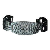 Outstanding Antique Art Deco French Diamond Bracelet