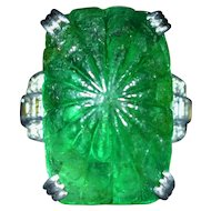 Extremely Rare Antique Colombian Emerald Ring by Tiffany & Company