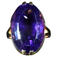 Outstanding Amethyst Cocktail Ring