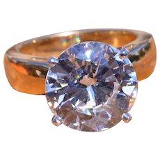 GIA Graded 5.89 Carat Round Brilliant Cut Diamond in Solitaire Setting