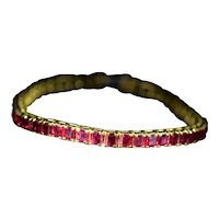 Outstanding 18 karat yellow gold bracelet set with 17 Carats of Rubies