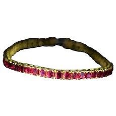 Outstanding 18 karat yellow gold bracelet set with 17 Carats of Rubies