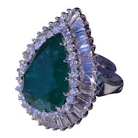 Outstanding Emerald & Diamond Ring