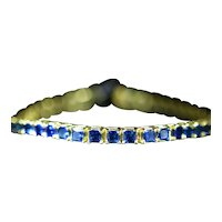 Radiant Cut Sapphire Yellow Gold Tennis Bracelet