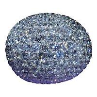 Incredible 18 Karat White Gold Diamond Bombe Ring