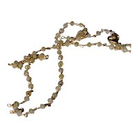 18 Karat Diamond Rondelle Necklace