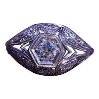 Ladies Filigree Ring in Platinum set with Diamonds