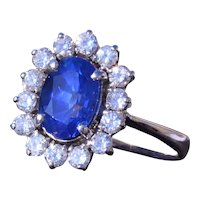 Outstanding 2.37 Carat No Heat Natural Sapphire Ring