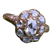 Antique Georgian Rose Cut Diamond Ring