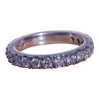 Platinum & Diamond Stackable Ring Set With Diamonds
