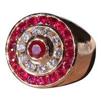 Gentleman's Ruby & Diamond Ring