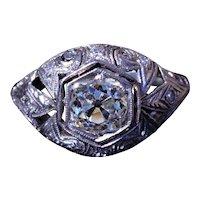 1.12 Carat Antique Filigree Engagement Ring in Platinum