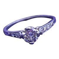 Antique Filigree Engagement Ring in Platinum set with 0.78 Carat Center Diamond