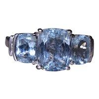 Outstanding Cushion Cut Aquamarine Ring set with Diamonds