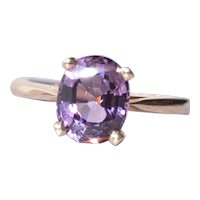 Grape Spinel Engagement Ring in Yellow Gold