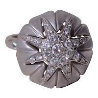 Italian Made Star Cocktail Ring Set with Diamonds