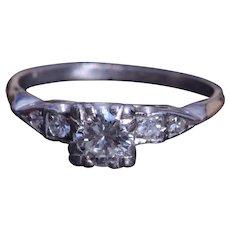 Vintage Engagement Ring set with 0.50 Carat Center Diamond