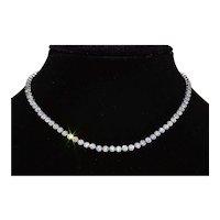 Antique Platinum Necklace Bezel set with Old European Cut Diamonds
